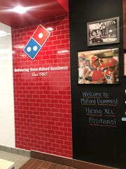 Domino's Pizza is open and hiring staff in Milford.