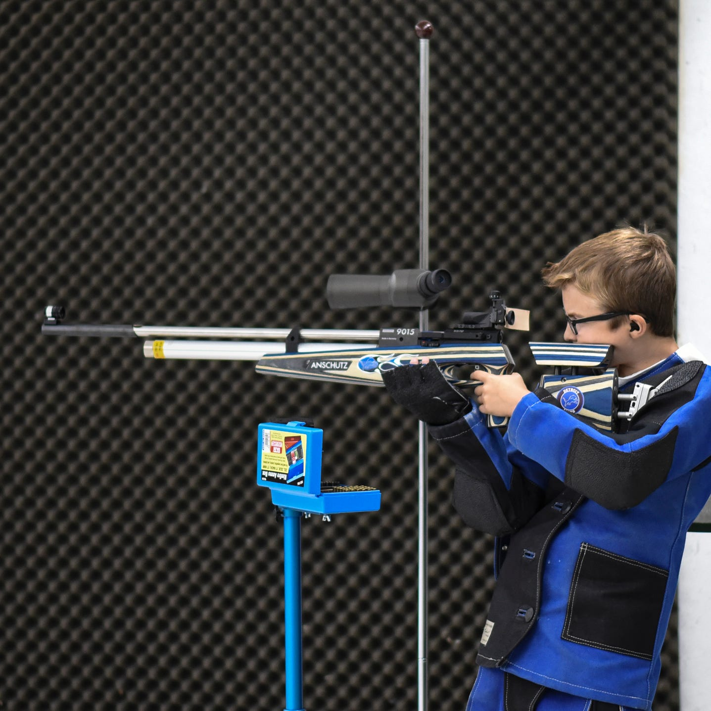 On target: Young marksman aiming for Junior Olympics