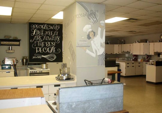 A former home economics classroom was renovated into a culinary arts business.