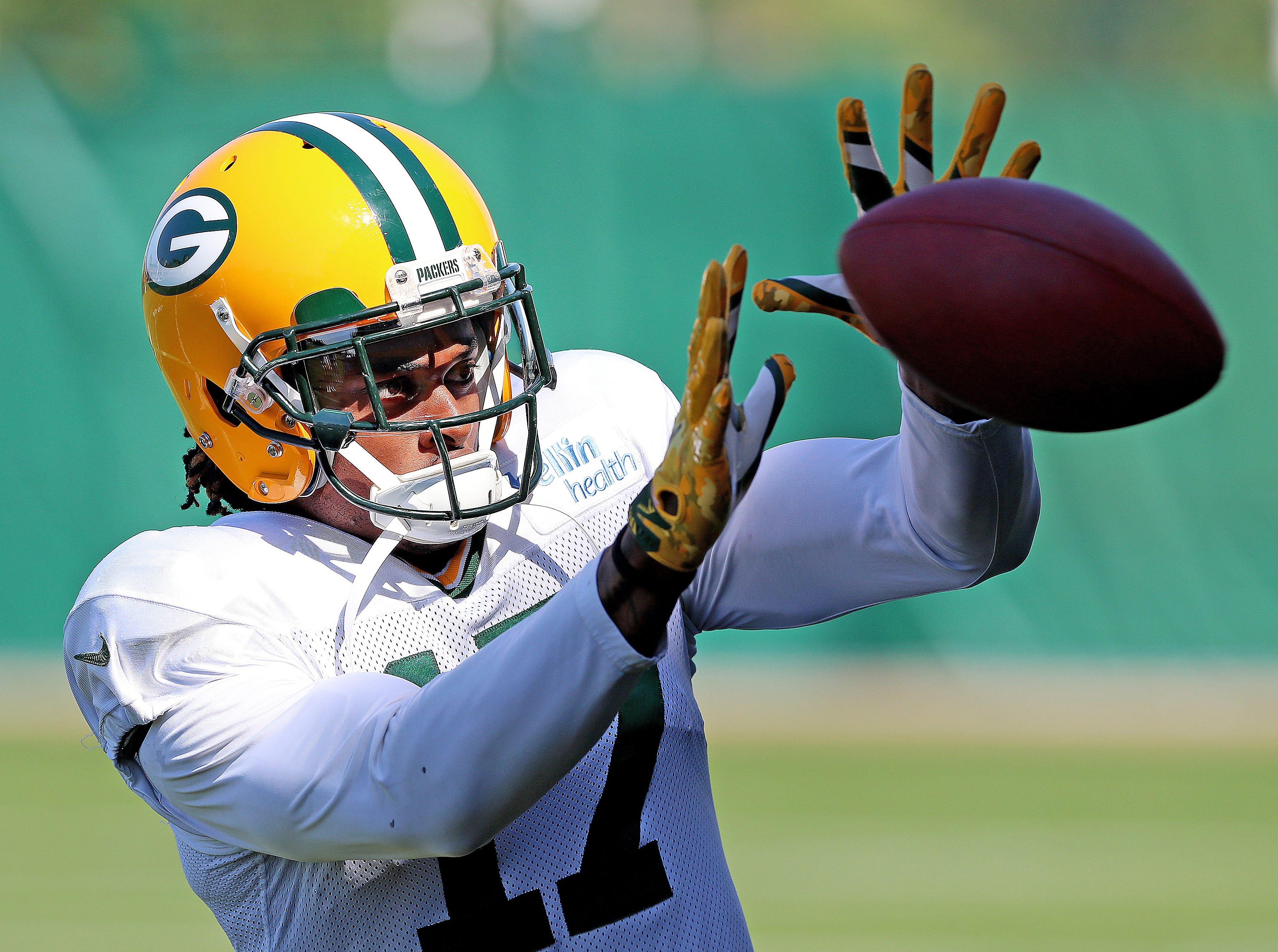 Green Bay Packers wide receiver Davante Adams (17) during practice September 13, 2018 at Clarke Hinkle Field in Ashwaubenon, WIs.
