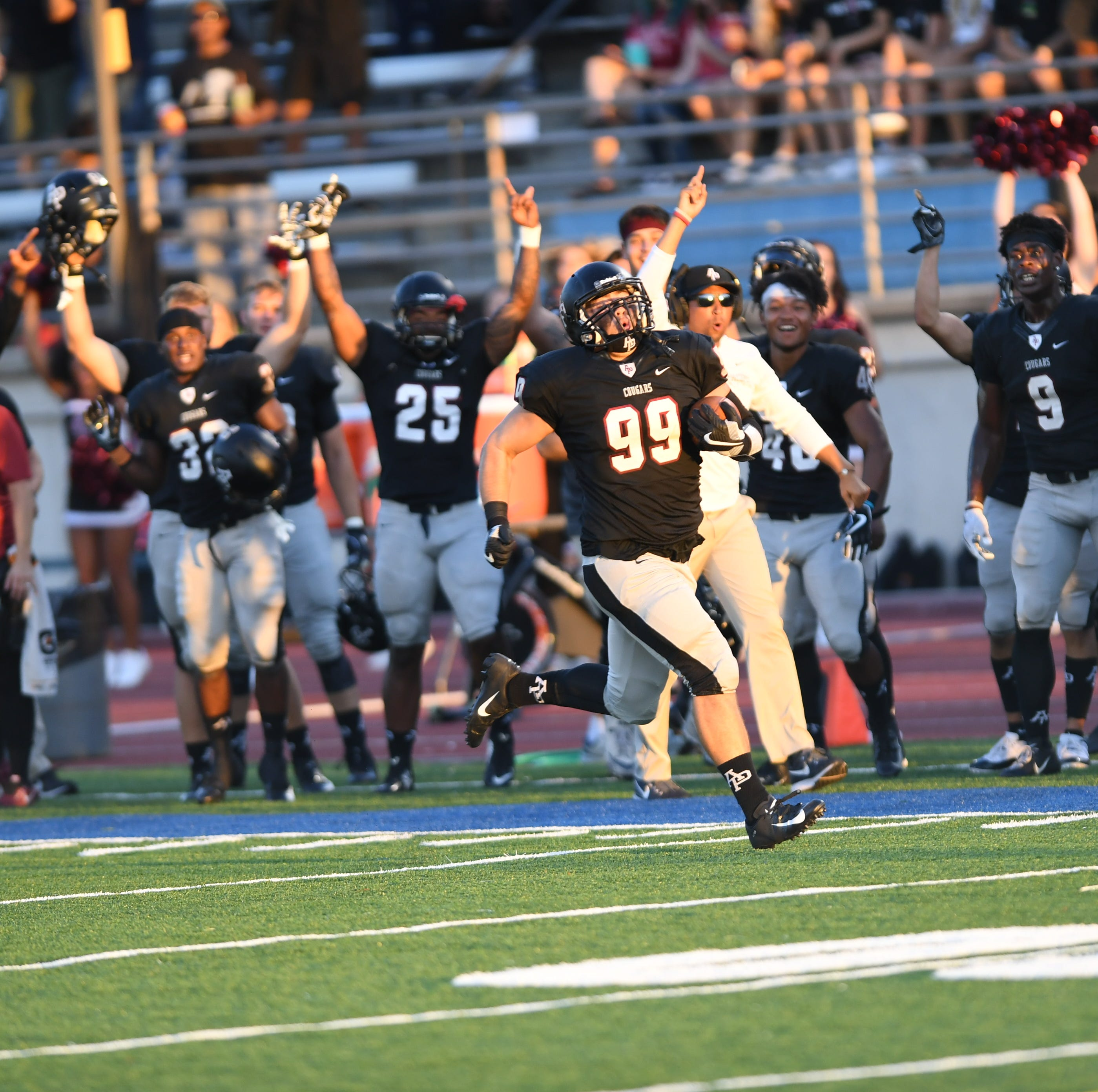 'OH. MY. GOSH. I have the football in my hands' — Robbie Polimeni, LQ grad and lineman, on his viral interception