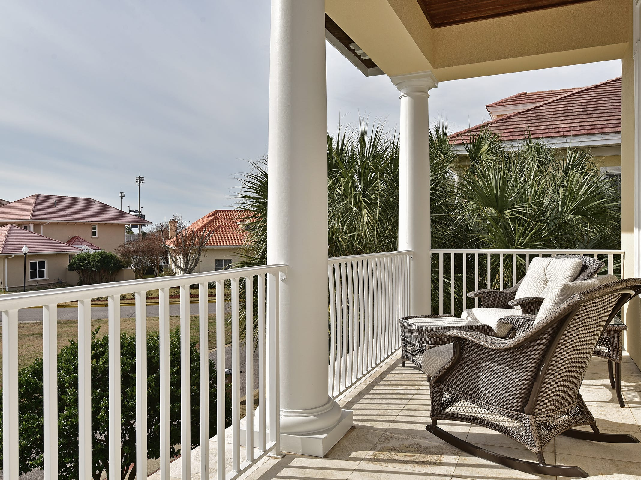 52 Port Royal Way, the balcony overlooks the property.