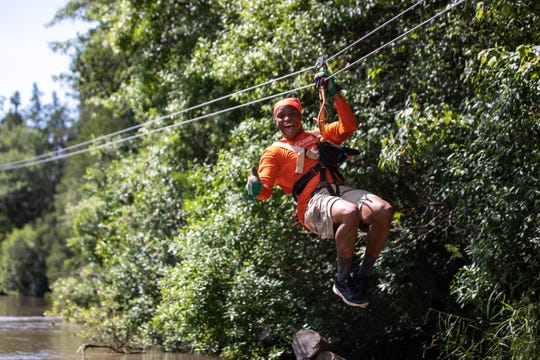Adventures Unlimited provides dangling views of Blackwater State Forest's changing colors.