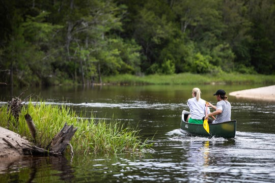 The weather is perfect in the fall for a quiet canoe or tubing trip down the Blackwater River in Milton.