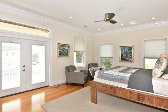 52 Port Royal Way, the master bedroom with balcony access.