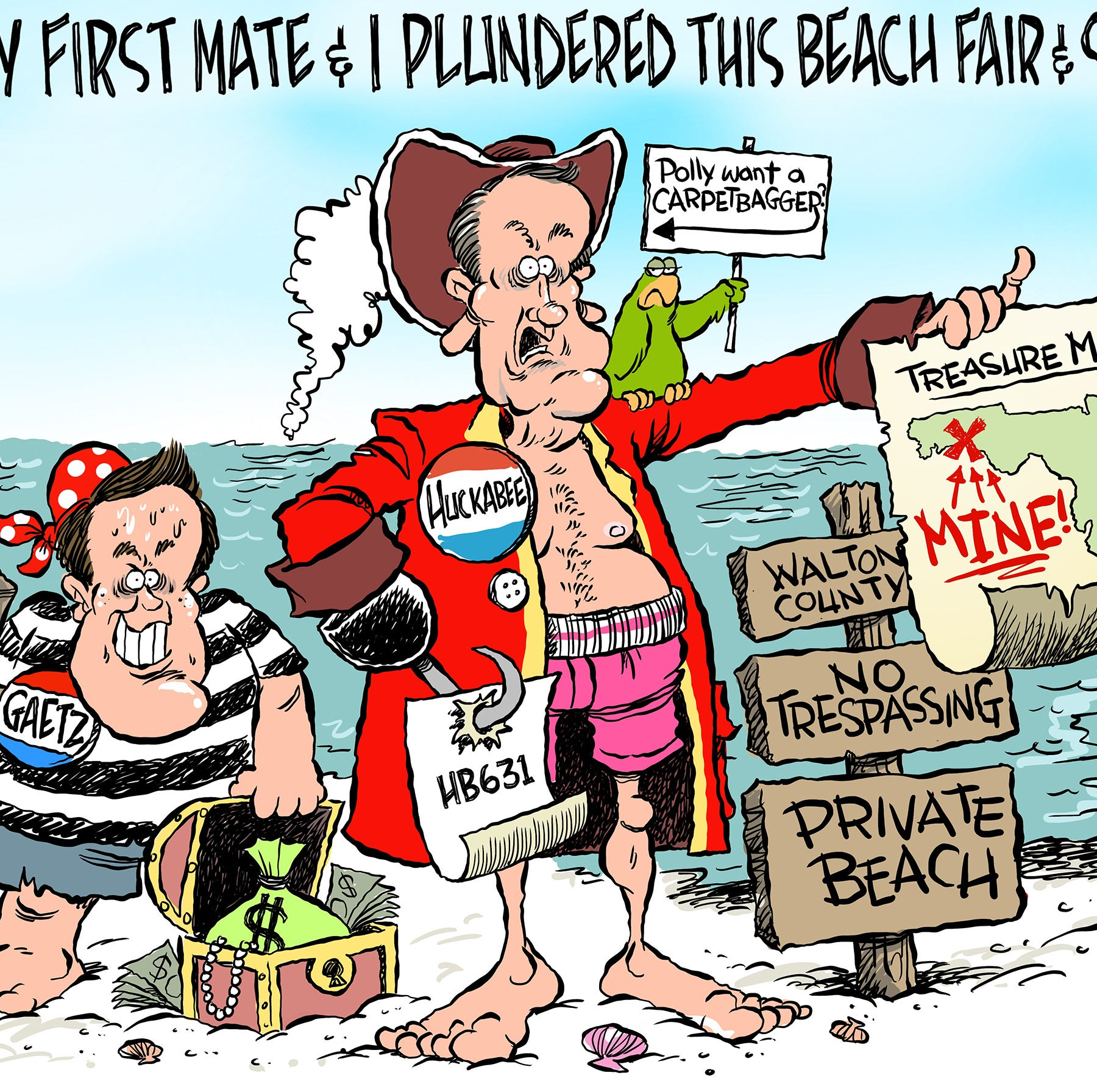 Marlette: Huckabee pirates beach from the peeps!