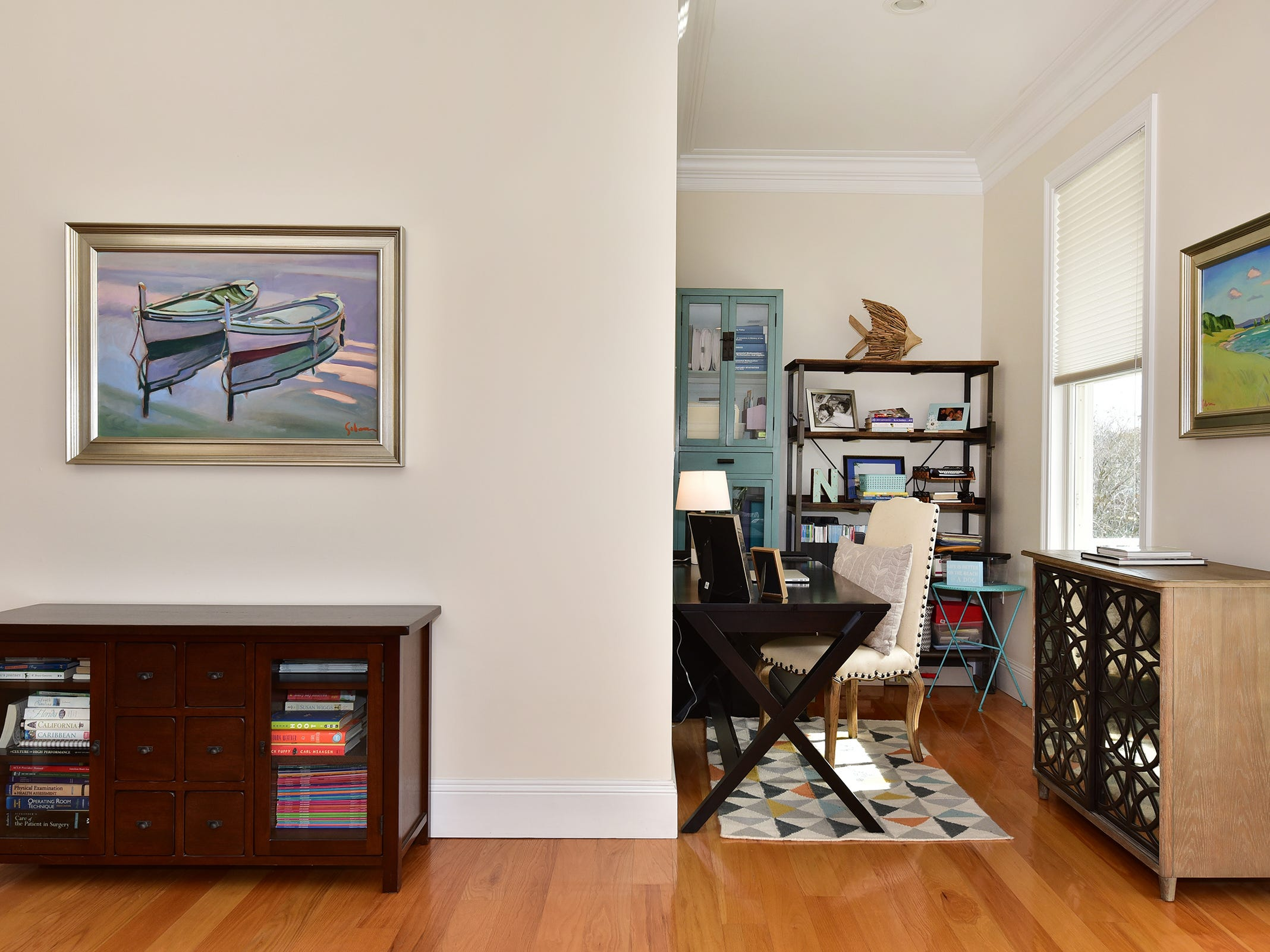 52 Port Royal Way, the master bedroom offers space to relax and work.