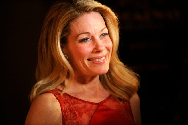 """Marin Mazzie attends the after party for the opening night of """"Bullets Over Broadway"""" in New York in 2014."""