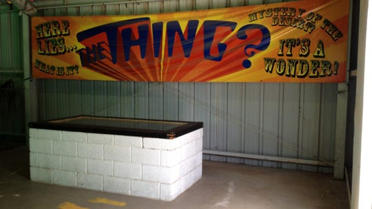 The original resting place of The Thing, now housed in its own museum in the Bowlin Travel Center near Benson.