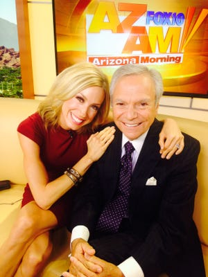 Andrea Robinson is seen in 2016 with former Fox 10 personality Rick D'Amico
