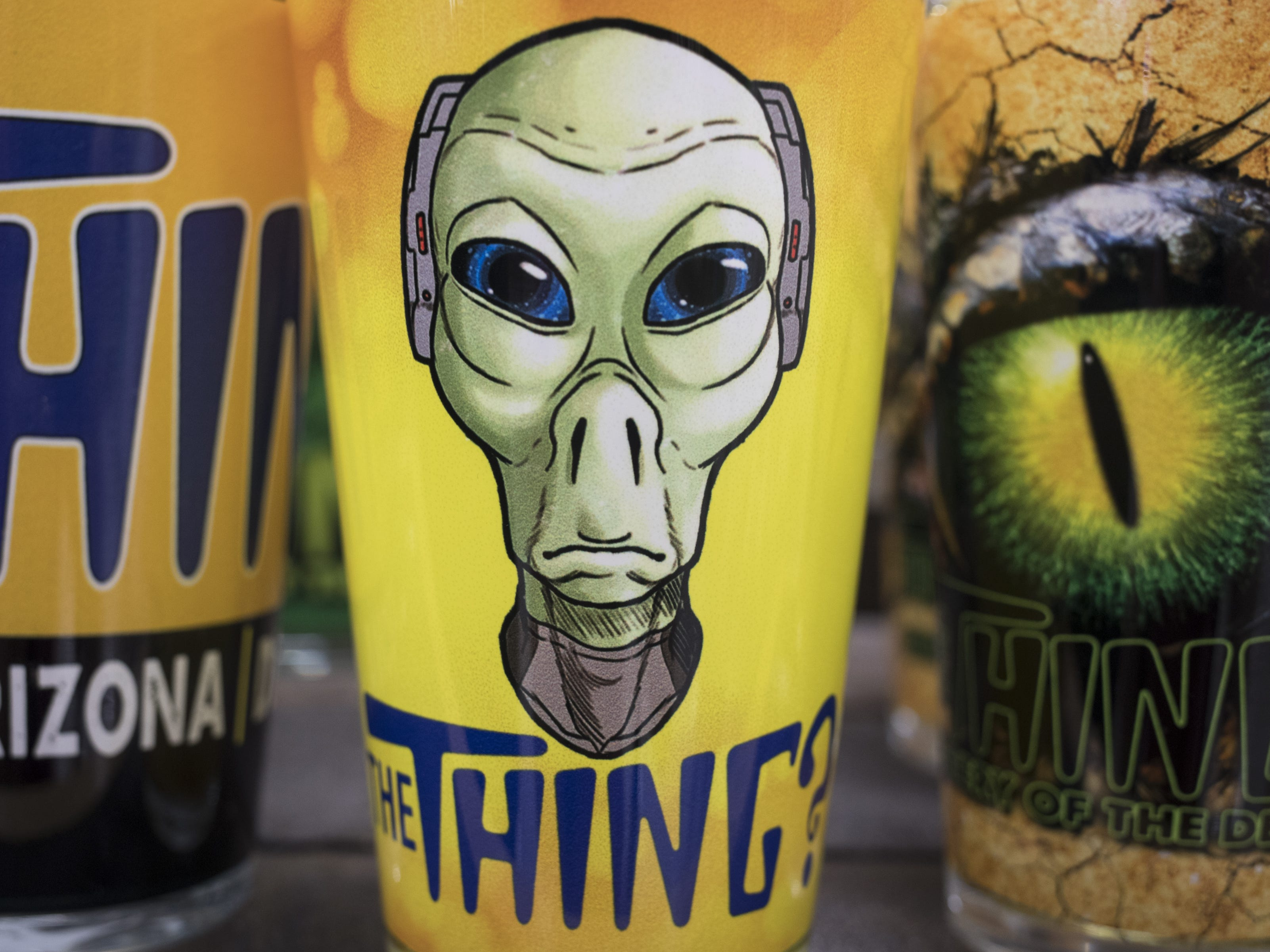 The Thing merchandise in the gift shop at the Bowlin Travel Center, September 11, 2018, east of Benson, Arizona.
