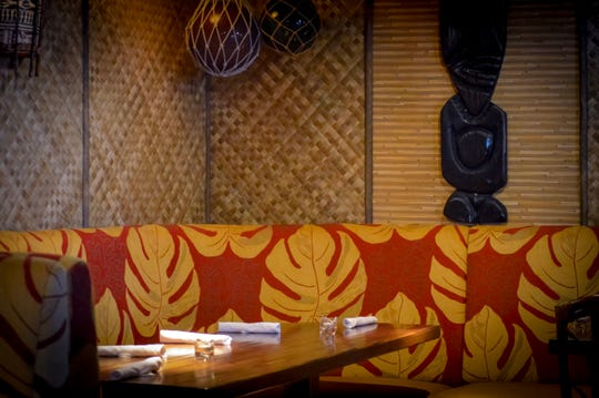 The Tiki Room is a private dining and events space at the new Hula's Modern Tiki in Phoenix.