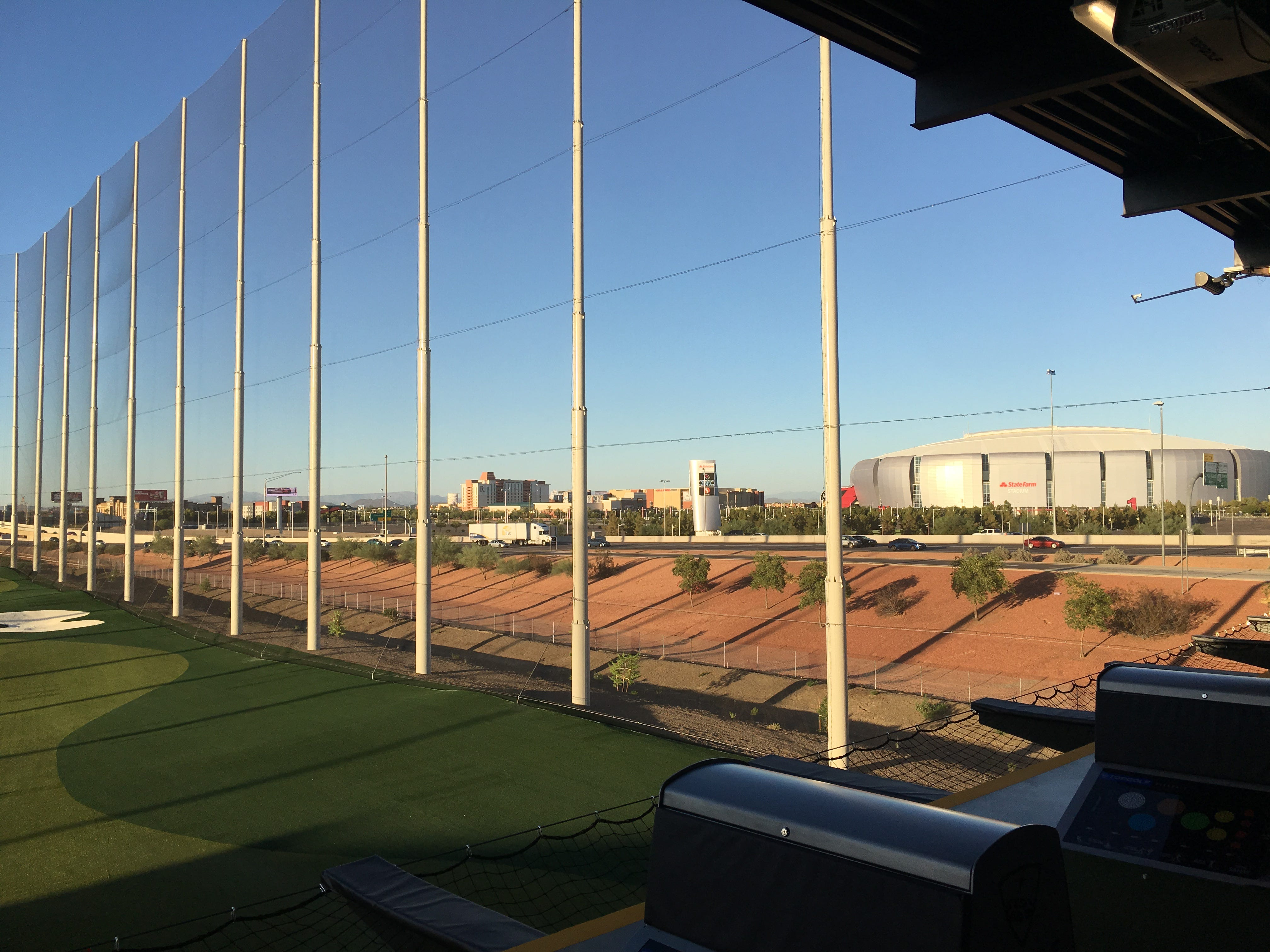 Topgolf's newest Valley location in Glendale features views of Westgate Entertainment District and State Farm Stadium, home of the Arizona Cardinals.