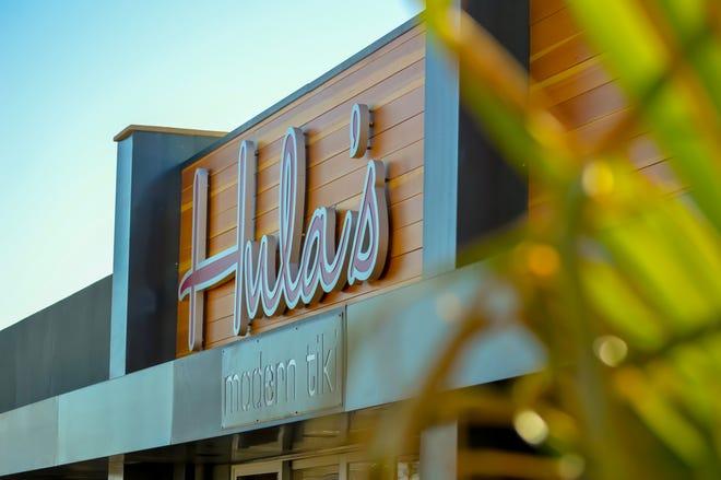 Exterior signage at Hula's Modern Tiki on Seventh Street in Phoenix.