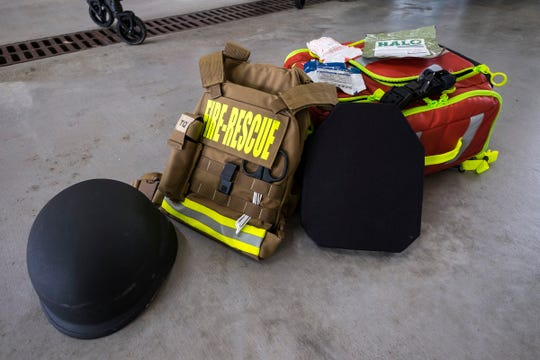 The Rescue Task Force Project needs $102,000 to provide equipment to each fire department and several EMS units in St. Clair County. Marysville's police officers, firefighters and paramedics have already purchased the equipment.