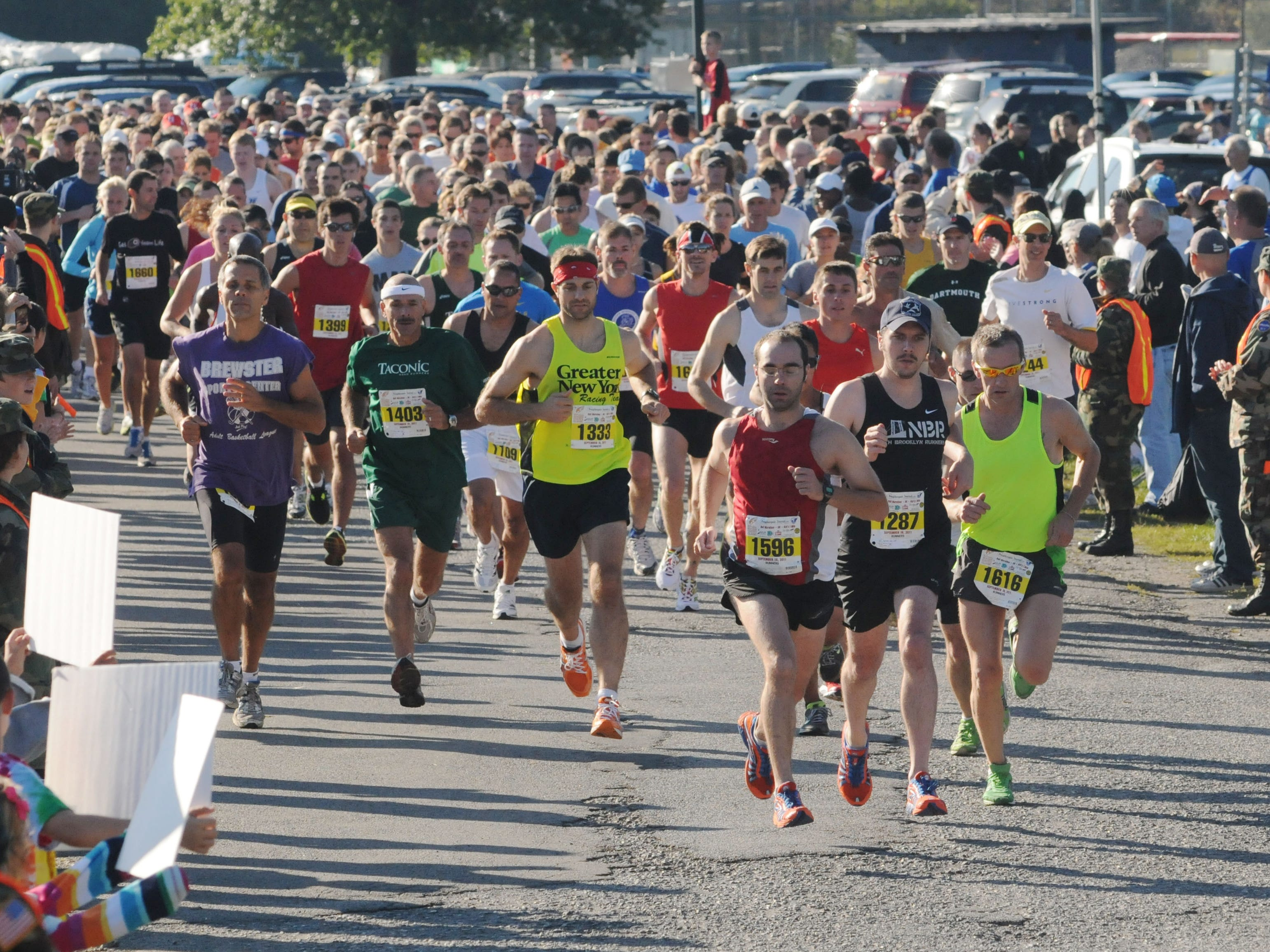 Runners participate in the 2011 Dutchess County Classic half marathon on Sept. 18 at the Town of Wappinger Recreation Complex on Robinson Lane.
