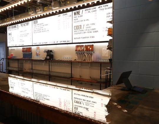 The Bar at Sloop Brewing's new location in East Fishkill on Sept 13, 2018.