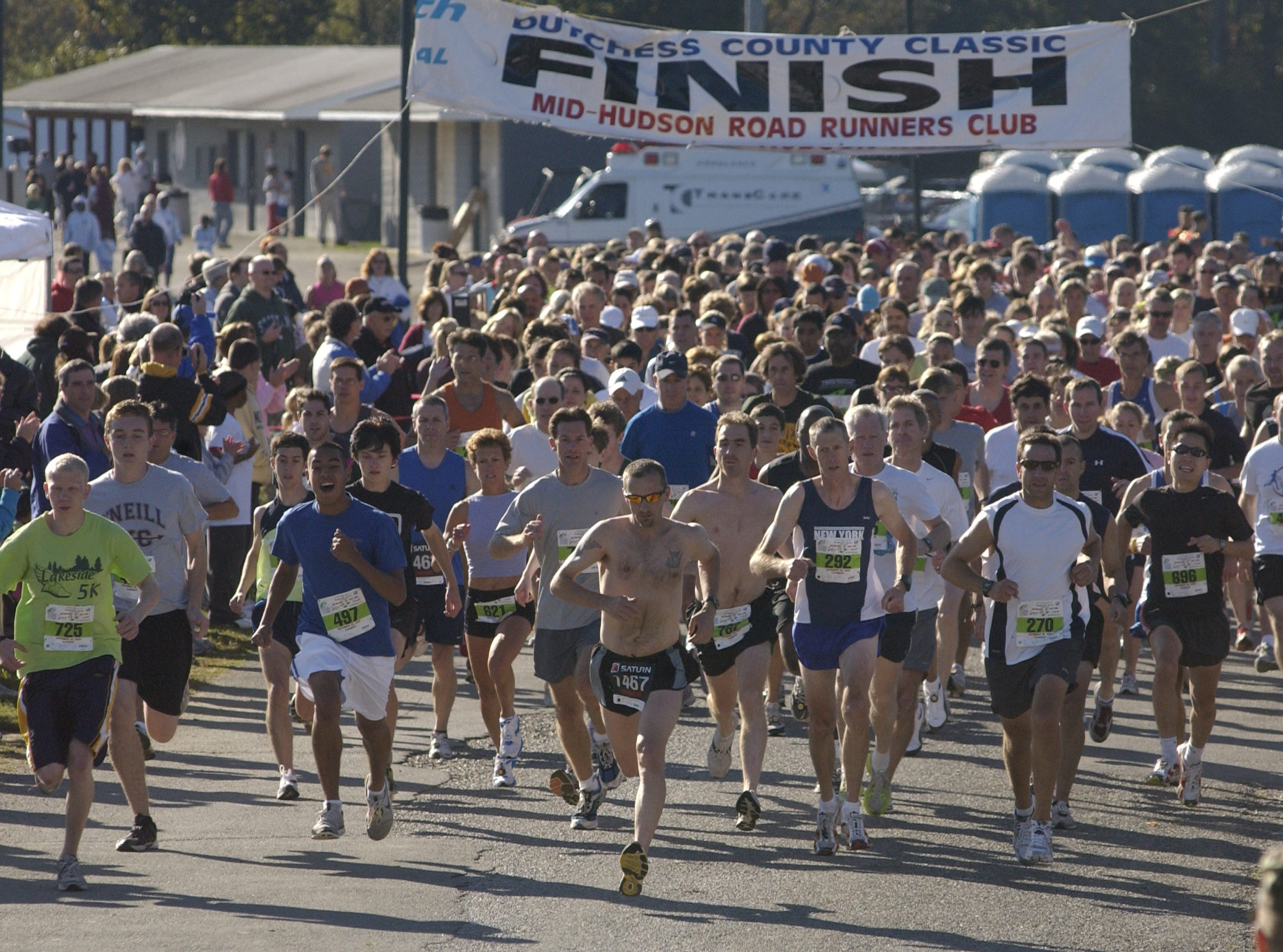 The Dutchess County Classic 5-kilometer race starts Sunday, Sept. 20, 2009, at the Town of Wappinger Recreation Complex on Robinson Lane in the Town of Wappinger.