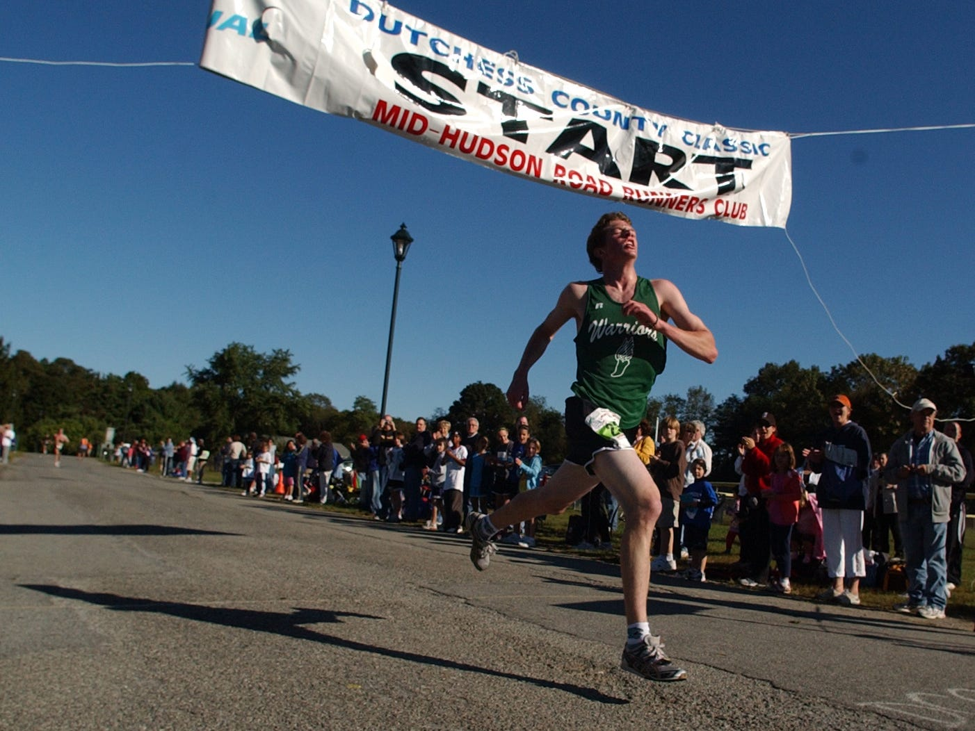 James Boeding, 17, of Millerton, wins the Dutchess County Classic 5-kilometer race Sunday, Sept. 20, 2009, at the Town of Wappinger Recreation Complex on Robinson Lane in the Town of Wappinger.