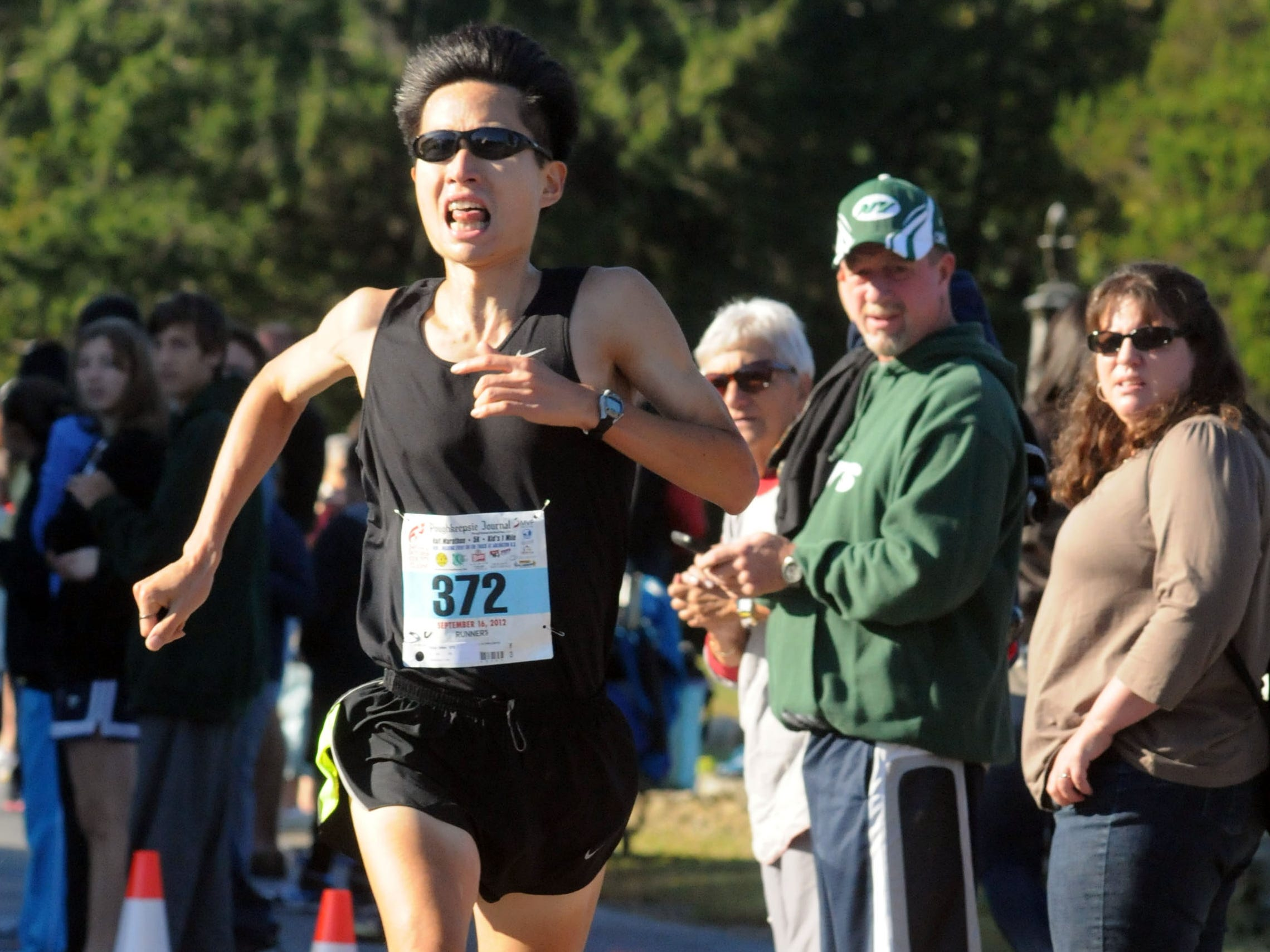Mike Chow of Wappingers Falls finished second in the Dutchess County Classic 5-kilometer race on Sept. 16, 2012, in LaGrange.