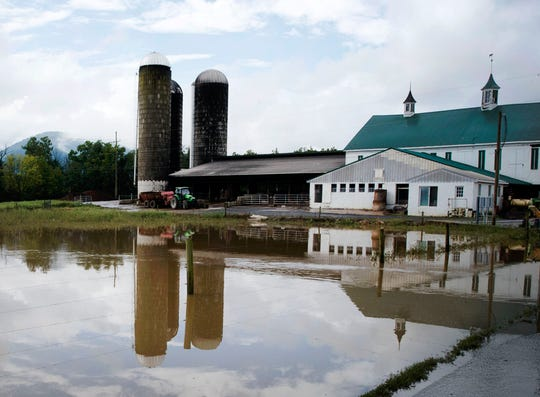A farm in the 11,000 block of Shimpstown Road, Mercersburg, experienced flooding on Thursday, September 13, 2018.