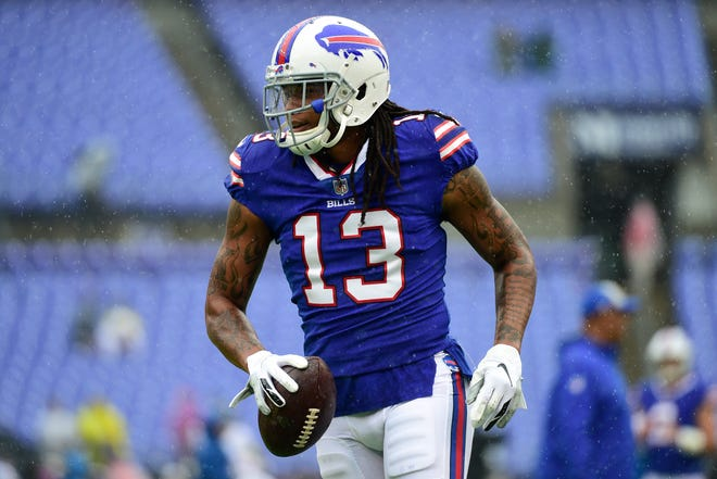 Kelvin Benjamin had one catch for 10 yards against the Ravens.