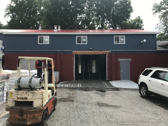 The new production space on Clinton Street for Stoneyard Brewing in Brockport.