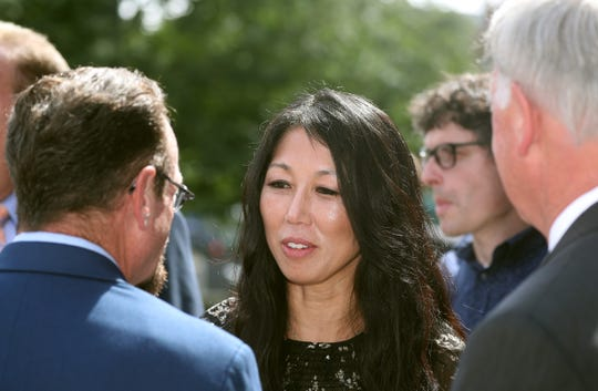 Kim Pegula, shown here during a visit to Rochester, met with reporters Tuesday at the NFL owners' meetings in Phoenix.