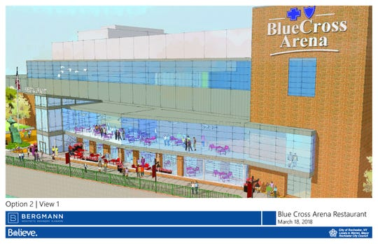Blue Cross Arena east side expansion