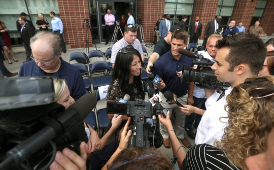 Kim Pegula in Rochester to announce Pegula Sports and Entertainment will be then new owners of the expansion Rochester Knighhawks after former ownership moved its franchise to Halifax.