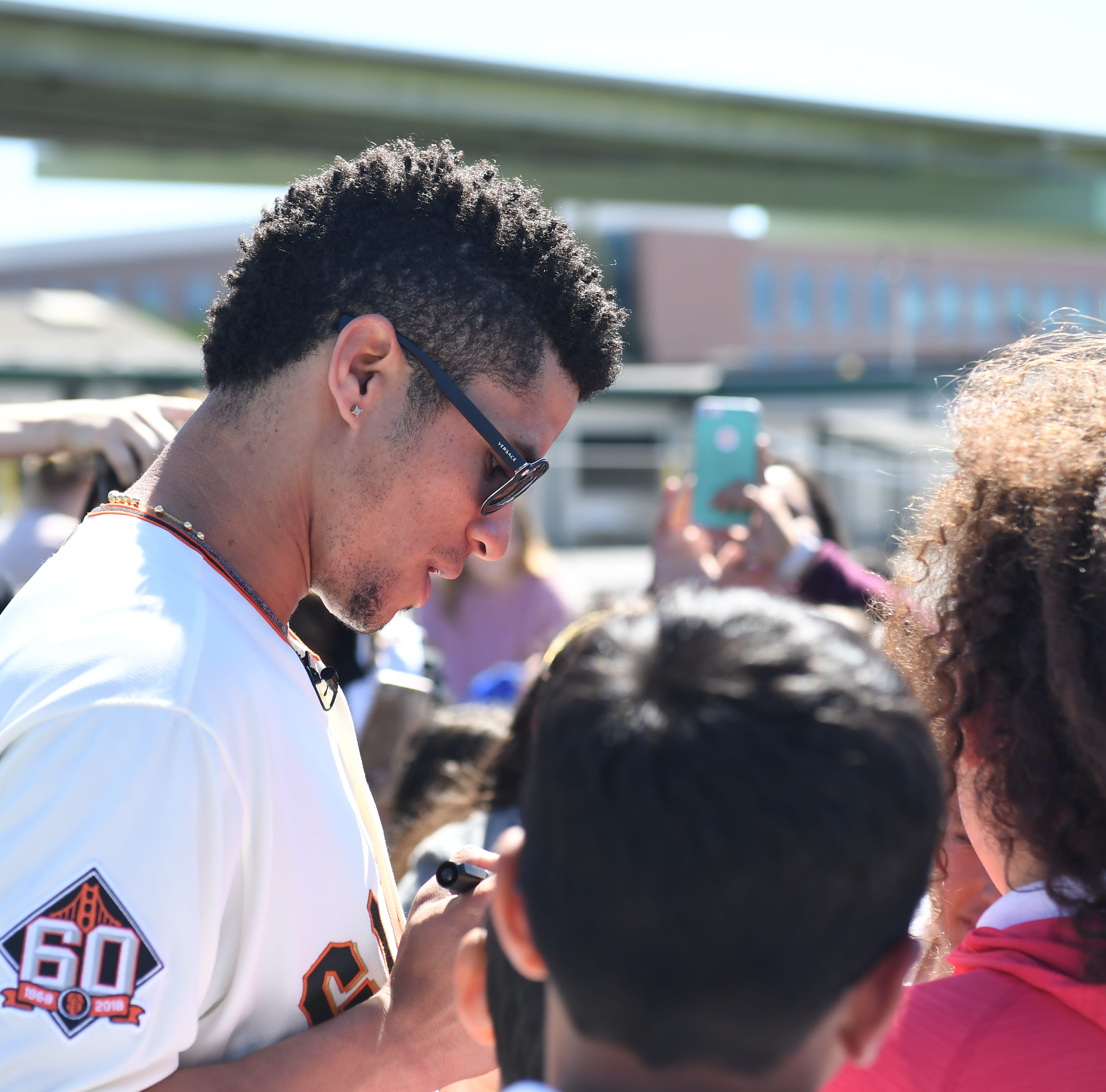 Here's why a Giants player came to see these elementary school students