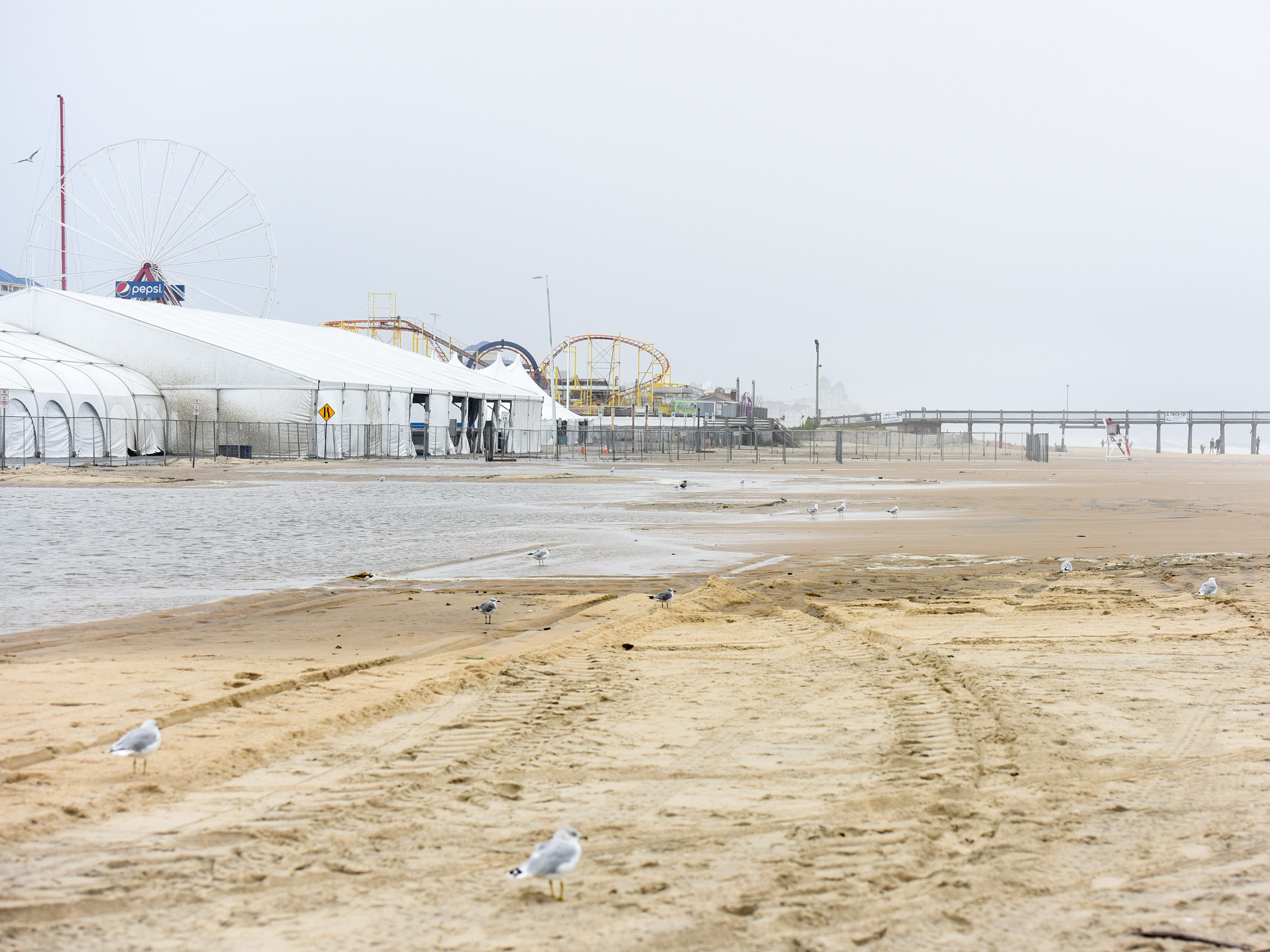 The Ocean City inlet saw mild flooding, wind and rough surf on Thursday, Sept 13.