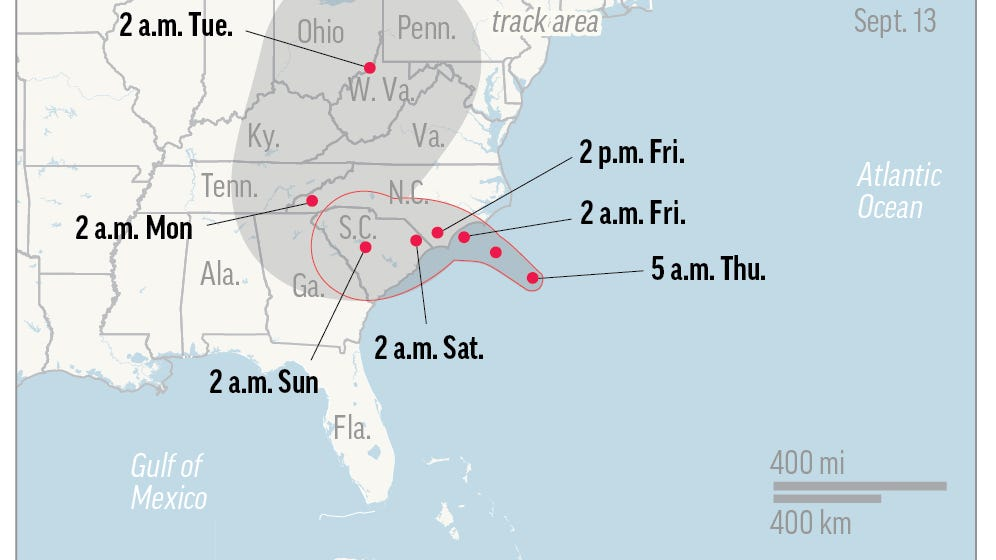 Hurricane Florence threatens East Tennessee with flooding, power outages