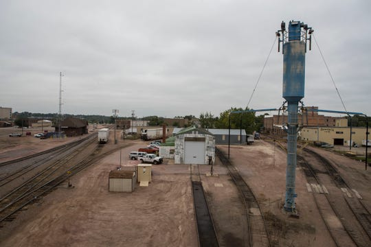 The rail yard shown in Sioux Falls, S.D. on Thursday, Sept. 13, 2018.