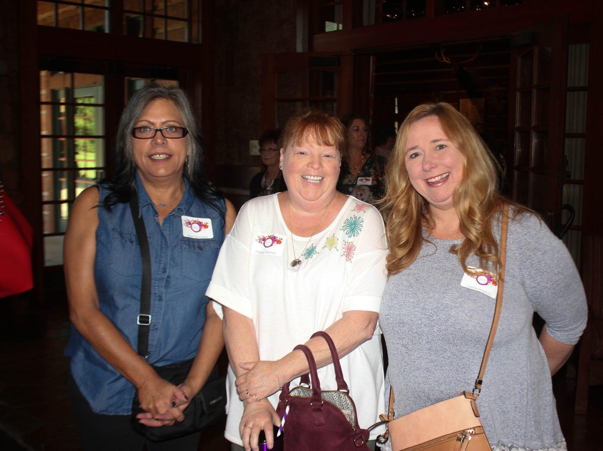 Sheri Dowland, Peggy Harmond and Lauria Hopkins