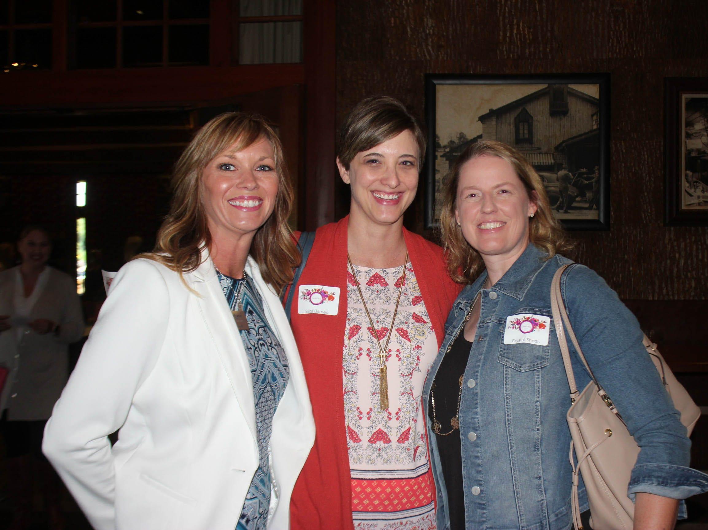 Sarah Watson, Trista Barnes, and Crystal Shotts