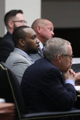 Defendant David Howard at the Hoyt Birge murder trial taking place at the Leon County Courthouse on September 13, 2018.