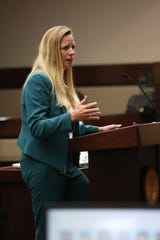 Prosecutor Georgia Cappleman will not be shifting to the State Attorney's Gadsden County offices after staffing changes were floated last month. In this photo, Cappleman giving an opening statement for the Hoyt Birge murder trial at the Leon County Courthouse on September 13.
