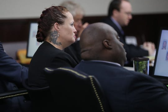Defendant Vicki Stickland at the Hoyt Birge murder trial taking place at the Leon County Courthouse on September 13, 2018.
