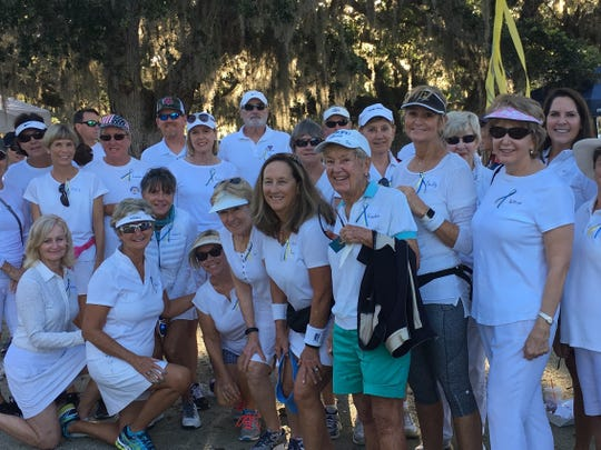 The Play To Remember team gets ready for the 2017 event at Riverside Park in Vero Beach.