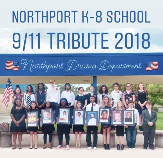 Northport Drama Department participated in the 9/11 Remembrance.