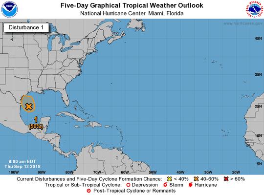 Tropical wave 8 a.m. Sept. 13, 2018