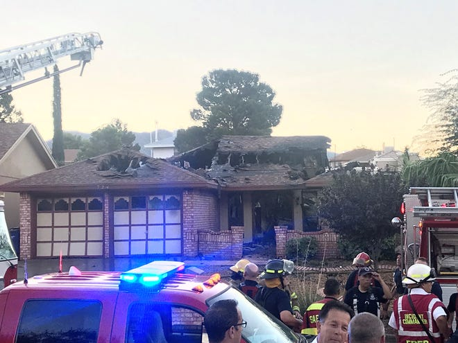 A fire at a home in West El Paso in the 700 block of Villa Vanessa Drive, near Belvidere Street. left one man dead.