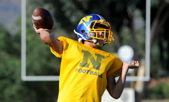 Leeram Stoneman, a junior, is back as the starting quarterback for Nordhoff.