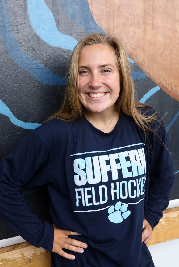 Rockland Scholar-Athlete Madie Nicpon, a captain on the Suffern varsity field hockey team, at the high school Sept. 13, 2018. Nicpon, a senior, is also on the lacrosse and track teams.
