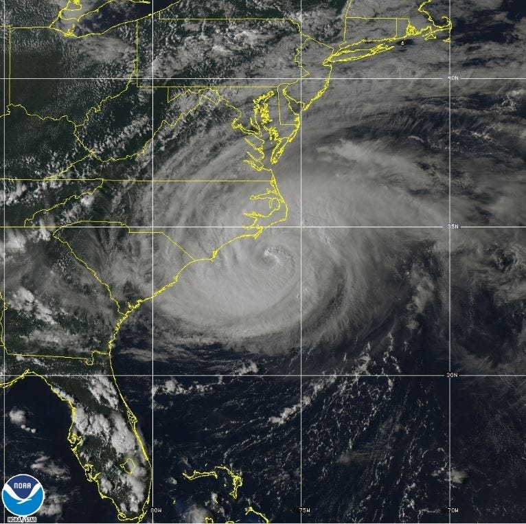Hurricane Florence slows as hurricane-force winds hit near the Carolinas
