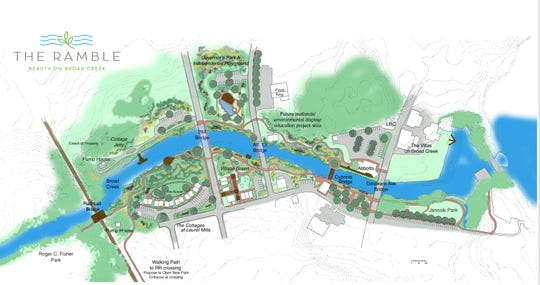 The Ramble, a mixed-use redevelopment project along Broad Creek in Laurel, could be a possible future home for a brewery.