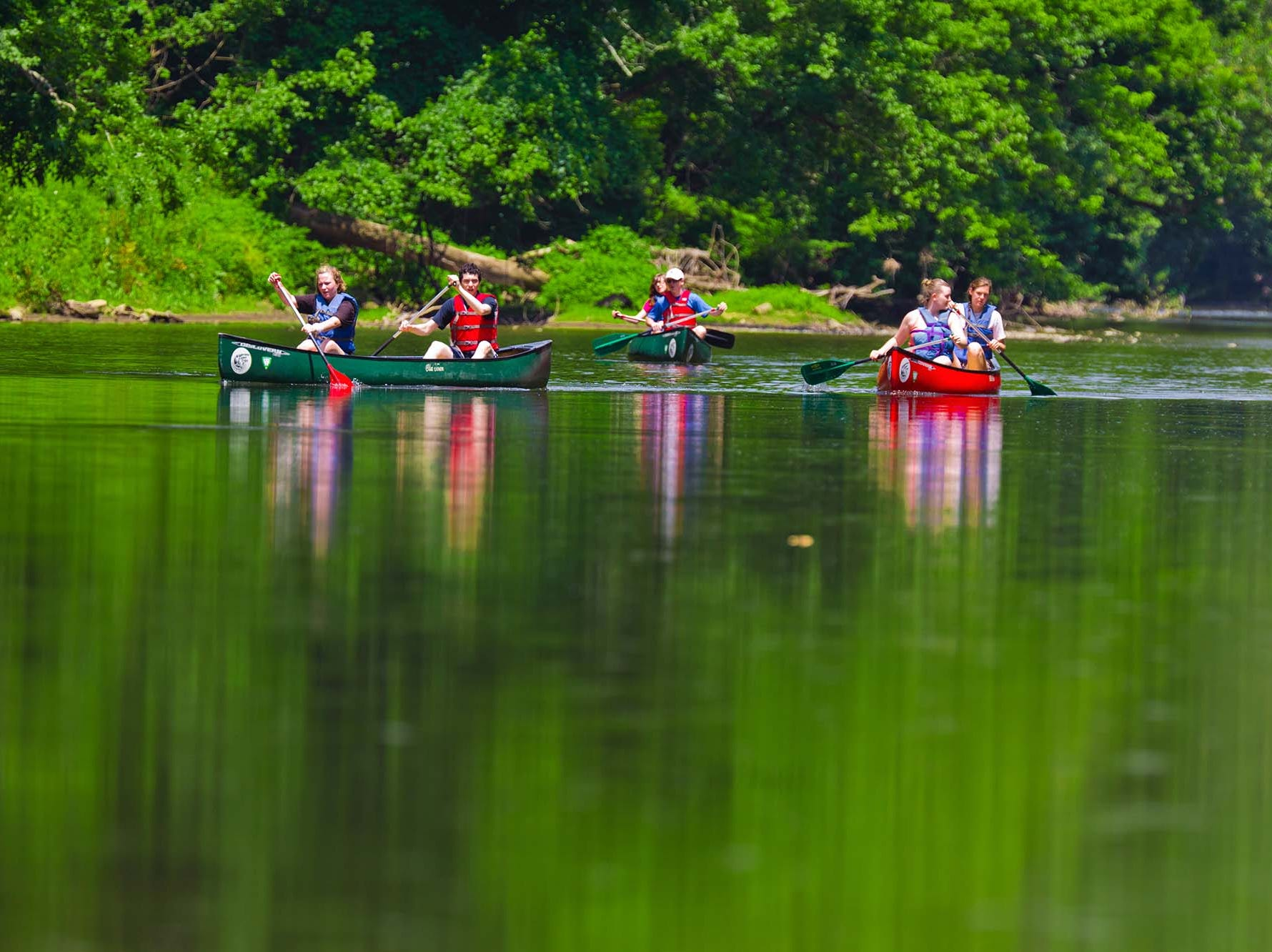 Canoe down the Brandywine River