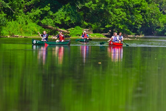 The Brandywine is a popular destination for canoes and kayaks.