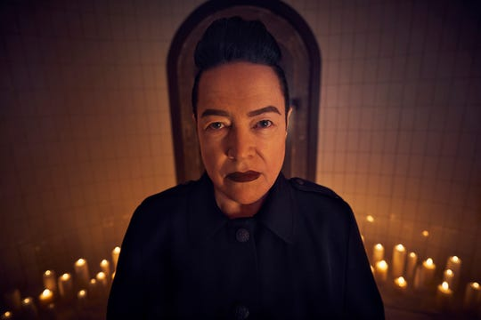 "Kathy Bates as Ms. Miriam Mead on ""American Horror Story: Apocalypse."""